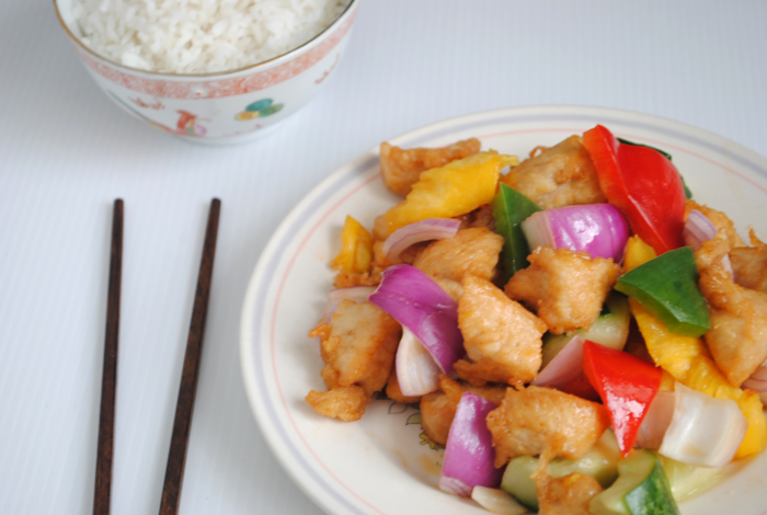 sweet and sour ku lo chicken