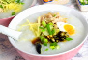 pork and century egg Chinese porridge recipe