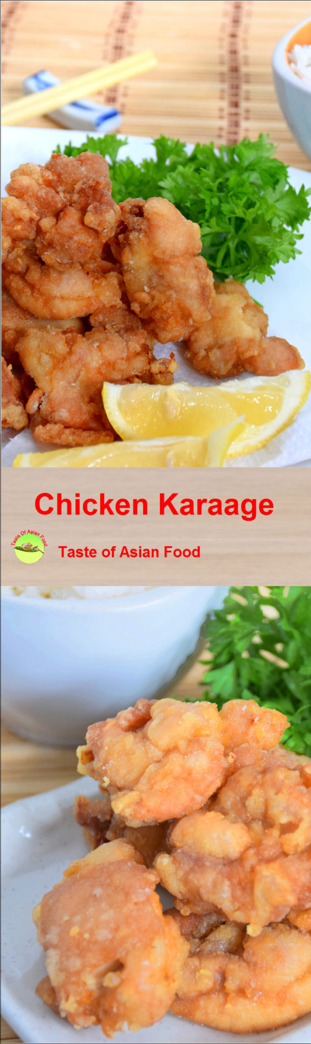 chicken karaage recipe pin