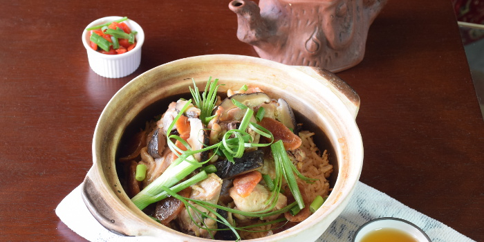Malaysia clay pot chicken rice