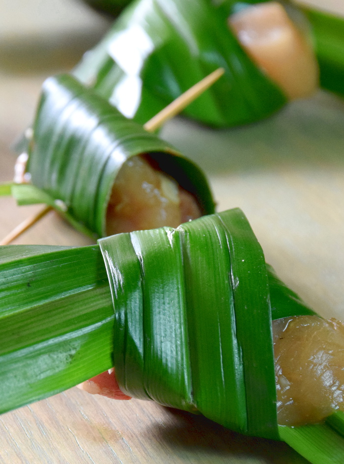 Thai pandan leave chicken