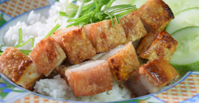 Chinese roast pork with rice