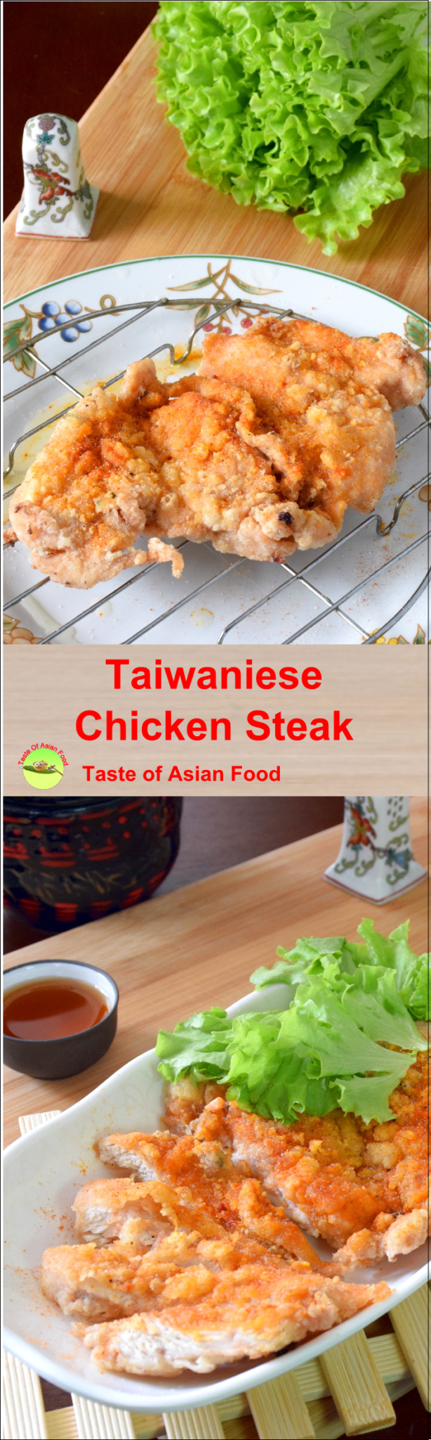 Taiwanese chicken steak pin