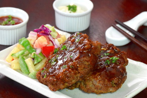 Japanese hamburger steak recipe image