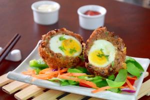 Oriental scotch egg recipe image