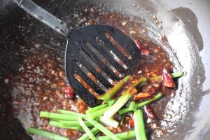 Add scallion to Mongolian beef