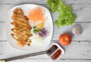 chicken katsu recipe with salad