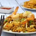 Singapore noodles side view 2