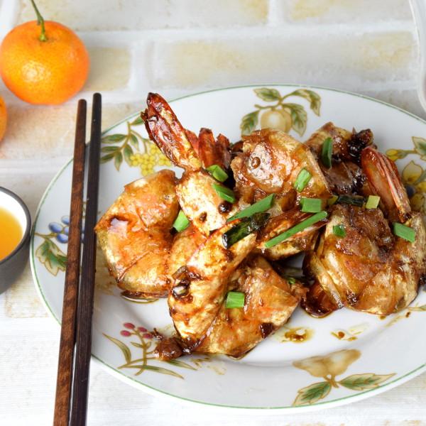 pan-fried shrimps recipe