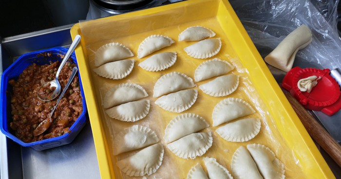 making curry puffs