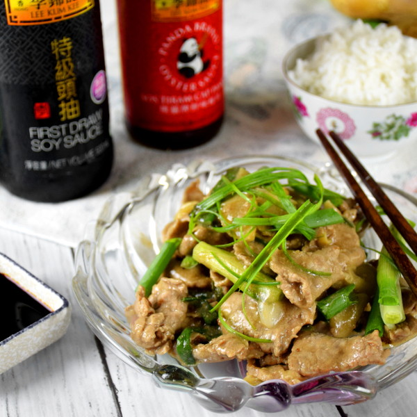 ginger and spring onion beef stir fry