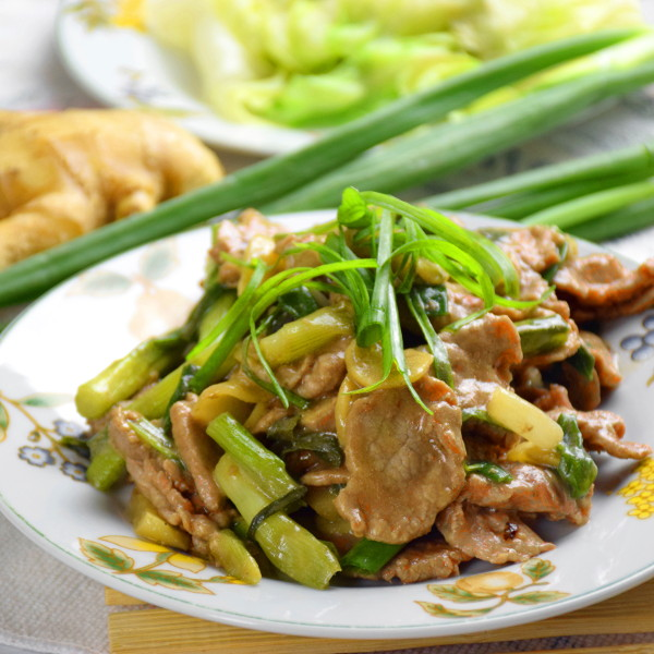 Ginger and scallion beef stir-fry