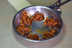 Filling of char siu bao