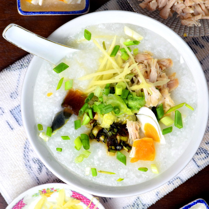 Pork and Thousand Year Eggs Porridge