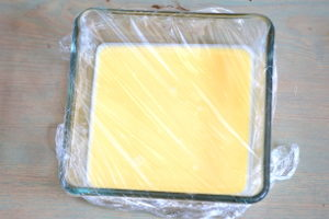 steamed eggs with cling film
