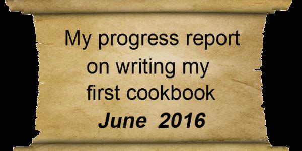 Writing my cookbook- Progress report June 2016