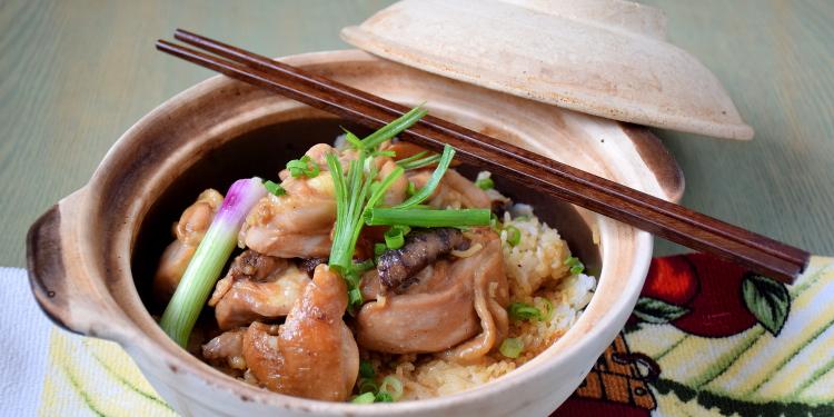 clay pot chicken rice