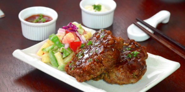 How to cook Japanese hamburger steak that makes you hungry