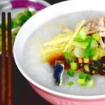 Pork and Thousand Year Eggs Porridge