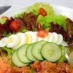 Japanese style mushroom salad