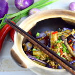 Eggplant with garlic sauce recipe