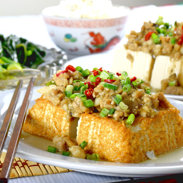 tofu with minced pork square 2