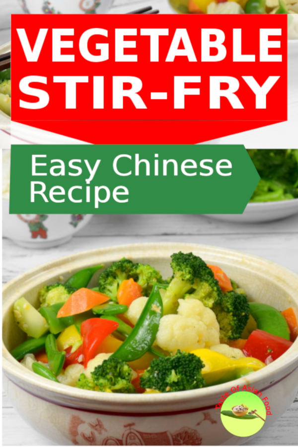 Chinese vegetable stir fry recipe. Easy to prepare.