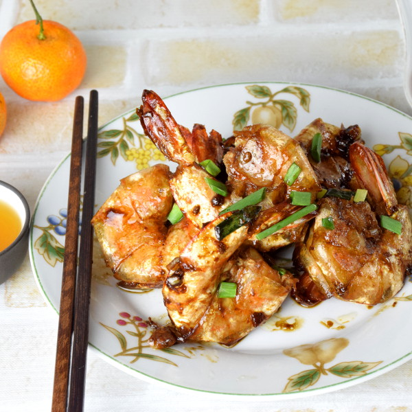 pan-fried shrimps recipe