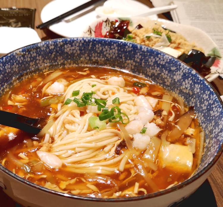 Szechuan hot and sour soup noodles