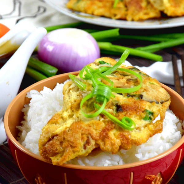 egg foo young with rice