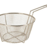 Round wire fry basket