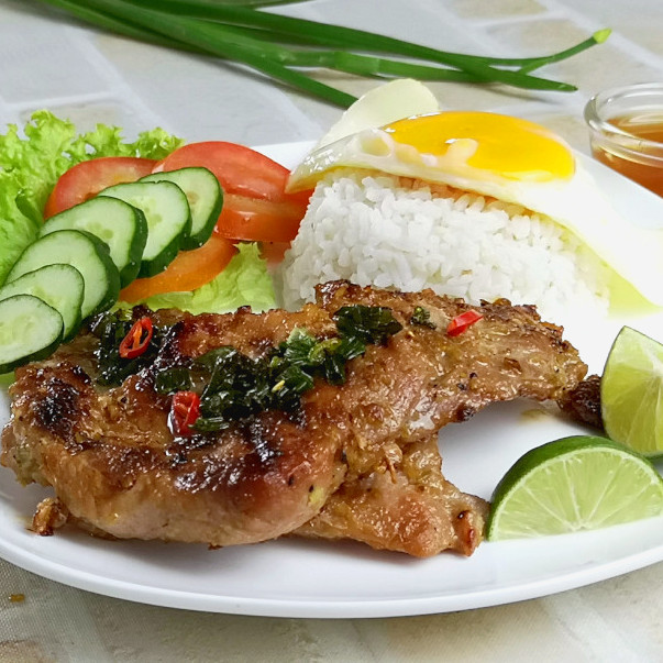 Vietnamese pork chops lemongrass