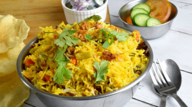 Vegetarian biryani recipe