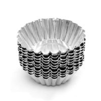 Dealglad® 20pcs Egg Tart Aluminum Cupcake Cake Cookie Mold