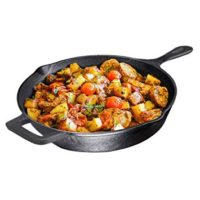 Pre-Seasoned Cast Iron Skillet, Non-Stick,12 inch - Skillet Pan For Stovetop, Oven Use & Outdoor Camping