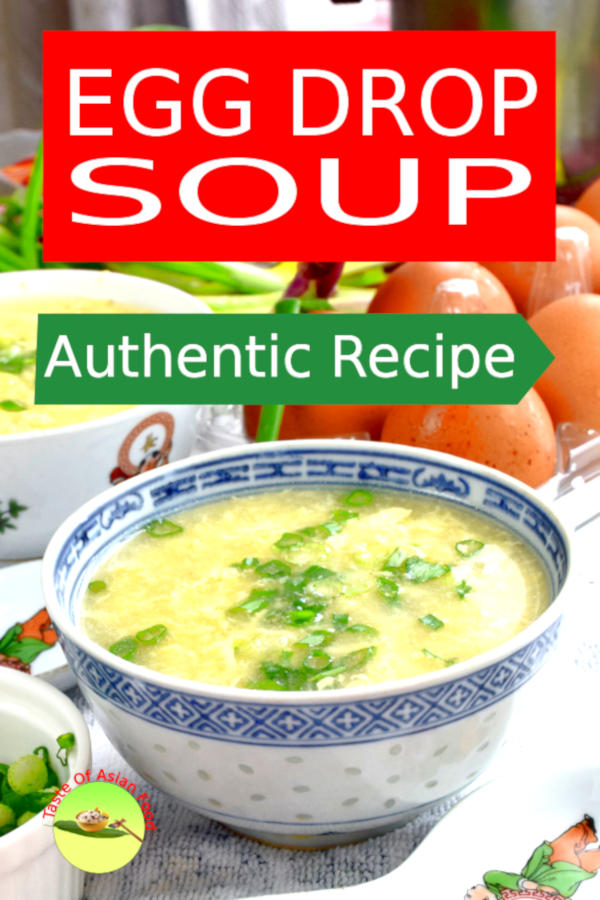 This recipe explains two critical steps to make the best Chinese egg drop soup that many recipes ignored: How to make the best soup base and, how to form the beautiful egg drops that are silky smooth.