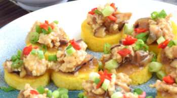 Egg tofu with minced meat. A typical home cooked food for the average Chinese family.