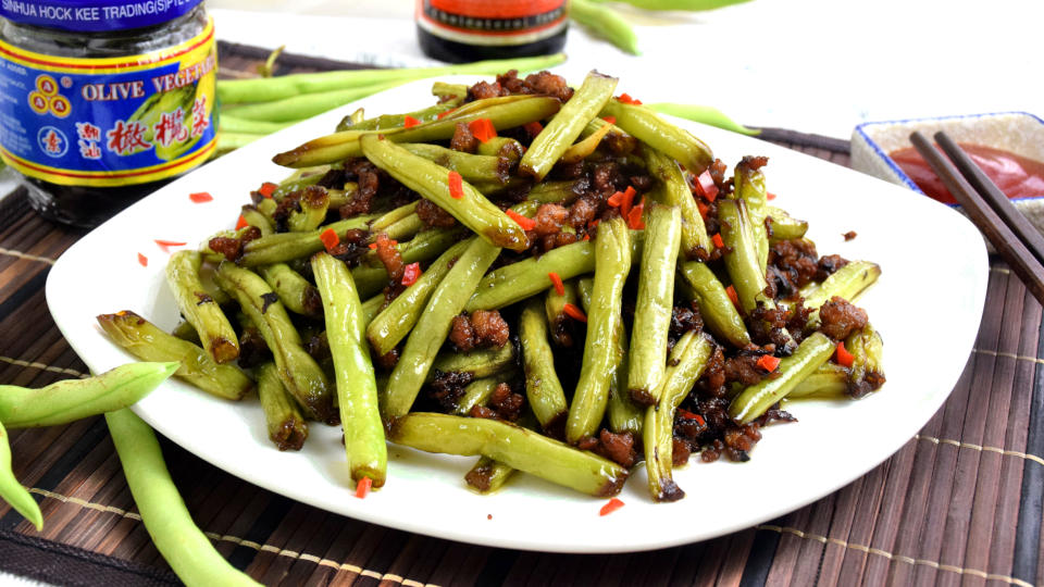 Chinese Green Beans Recipe | How to cook with minced pork (干煸四季豆)