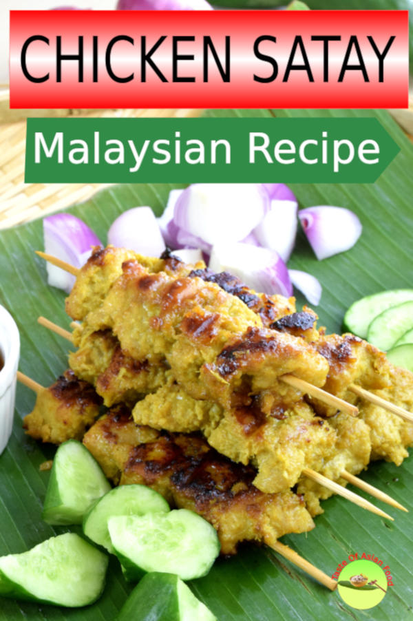 Chicken satay is prepared with the chicken meat marinated with a myriad of spices and grilled to perfection. This Malaysian chicken satay recipe is tender and succulent and can be prepared with a grilled pan.