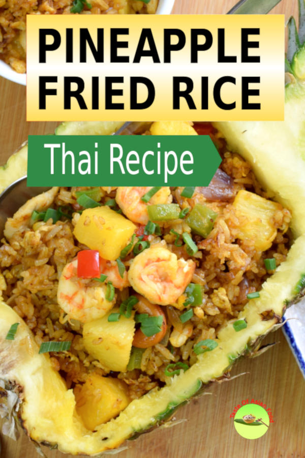 Pineapple fried rice is the only fried rice cooked with fruits and curry powder. The sweetness of the diced pineapple provides a balance to the savory taste of shrimp and chicken. Your guests will be pleasantly surprised to see this Thai fried rice served in the pineapple bowl.