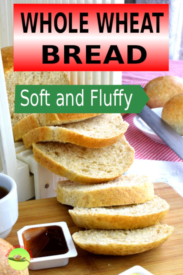 This recipe shows you how to make whole wheat bread (wholemeal bread) that is soft and fluffy by using an Asian method. Another secret: I do not knead the dough. How: Use the food processor.