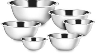 Klee Premium mixing bowls Set of 6 - stainless steel mixing bowls - Polished Mirror kitchen bowls - Set Includes ¾, 1.5, 3, 4, 5, 8 Quart - Ideal For Cooking & Serving - Easy to clean - Perfect gift