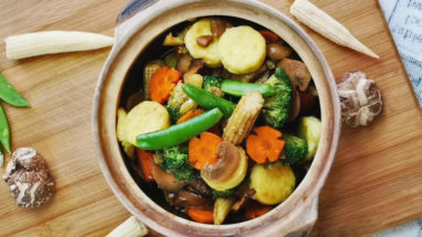 Braised tofu with mushrooms is an authentic home cooked dish favorite among the Chinese household. Tofu is an excellent sauce of protein which makes it a balanced meal even without meat. It acts as a sponge and takes on any flavor adding to it. The preparation is easy, which can be done within thirty minutes.