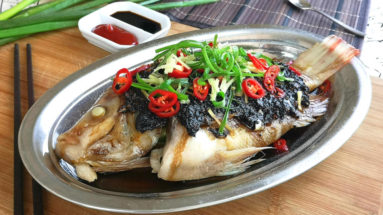 Steamed fish with black bean sauce 清蒸豆豉魚 is a traditional Chinese style cuisine popular among the Cantonese. This article explains all the right steps to prepare this dish in the traditional Cantonese way.