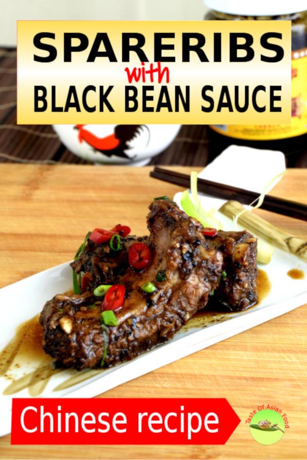 Chinese spareribs with black bean sauce 豉汁蒸排骨 is a savory and easy dish to make at home. This dish is one of the everyday meal for an average Chinese household.