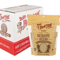Bob's Red Mill Resealable Hulled White Sesame Seeds, 10 Oz (6 Pack)