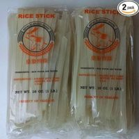 Wide Thai Rice Stick Noodles Xl (1cm) Pack of 2 (2 Lbs) Royal Elephant brand