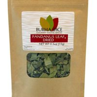 Dried Pandanus Leaves | Famous in Thai, Indian, and other South East Asian cuisines | 100% Pure and Kosher Certified. Crop of 2019 (0.5oz.)