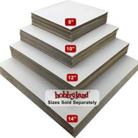 "Hobbyland Cake Boards Square White Coated Greaseproof (10"" Square, 10 Cake Boards)"