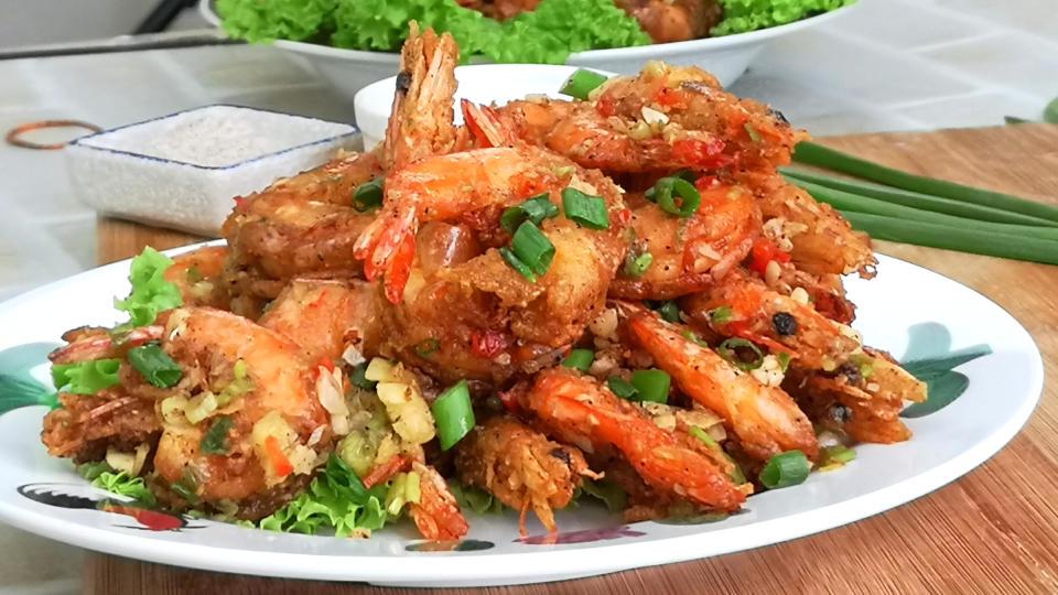 Salt and pepper shrimp featured image